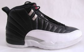 Jordan 12 (XII) Original (OG)-Playoffs (Black / Varsity Red-White-Metallic Silver) 136001-061