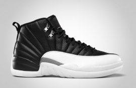 Jordan 12 (XII) Playoffs 2012 - Black/White 130690-001