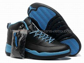 Jordan 12 (XII) Retro Black Blue Shoes