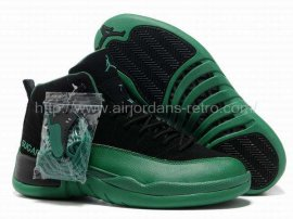 Jordan 12 (XII) Retro Black Green Shoes