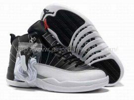 Jordan 12 (XII) Retro Black White Grey Shoes