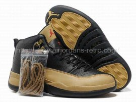 Jordan 12 (XII) Retro Black Yellow Shoes