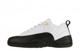 Jordan 12 (XII) Retro Low-Taxi (White / Black-Taxi) 308317-101