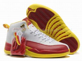Jordan 12 (XII) Retro Red White Yellow Shoes