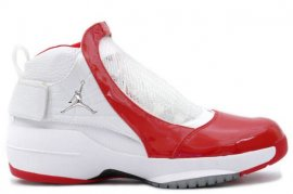 Jordan 19 (XIX) Original (OG)-Midwest (White / Chrome-Varsity Red) 307546-101